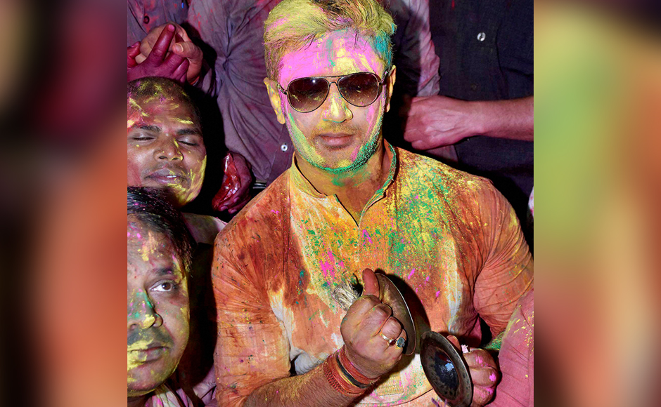 Holi Hai From Rahul and Sonia to Amit Shah and Lalu netas celebrate the festival of colours