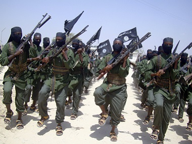 File photo of Al-Shabab fighters. AP