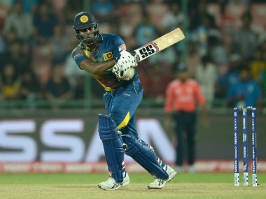 Sri Lanka captain Angelo Mathews played a fighting knock of 73 not out. Getty Images