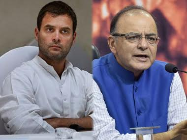 File photo of Arun Jaitley and Rahul Gandhi. PTI