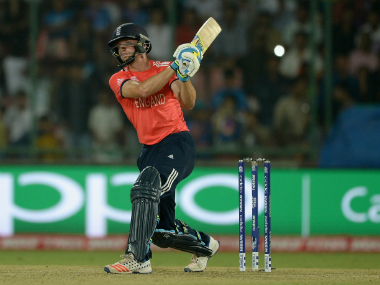 England batsman Jos Buttler during his unbeaten 66 off 37 balls against Sri Lanka at Kotla in Delhi on Saturday. Getty Images