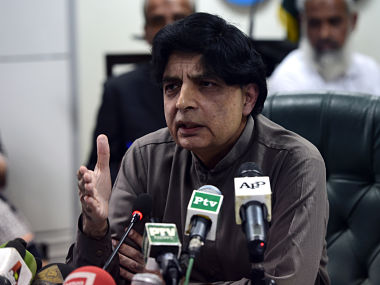 File picture of Chaudhry Nisar. AFP