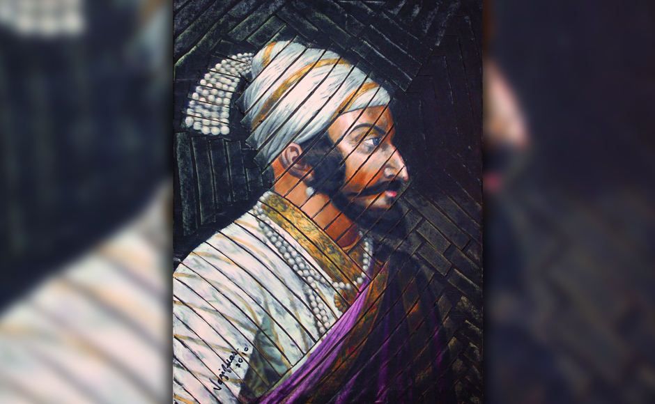 Chhatrapati Shivaji Maharaj, oil on canvas. Images courtesy Phiroze Vazifdar