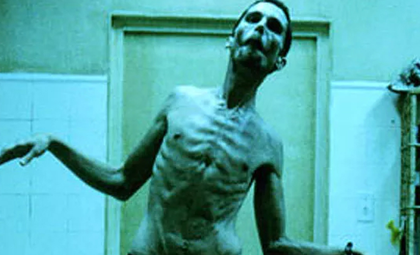 Christian Bale in The Machinist. Screen grab from YouTube