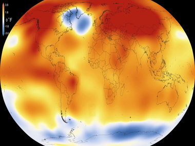 A study said UN's goal to prevent rise in global temperature was unrealistic. AFP