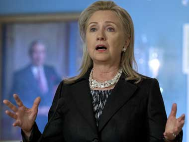 File photo of Hilary Clinton. AP