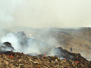 The fire at Mumbai's Deonar dumping ground. Solaris Images