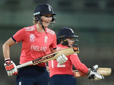 Engalnd Women's Cricket team's batsman during their win over Pakistan. PTI