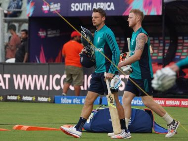 England players Jos Buttler and Ben Stokes. Solaris