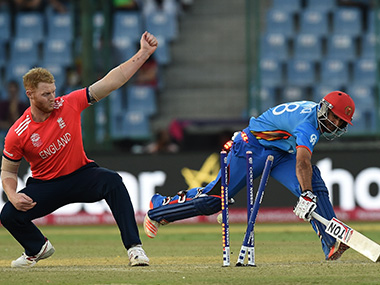 In the end, Afghanistan's nerves let them down against England in Delhi on Wednesday. AFP