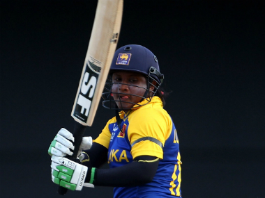 Eshani Lokusuriyage top-scored for Sri Lanka with her innings of 35. Getty Images