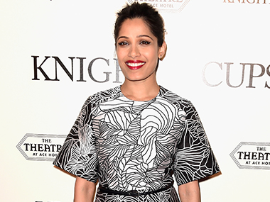 No inhibitions in shooting without script Freida Pinto