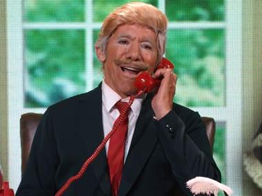 Geraldo Rivera as Donald Trump on Dancing With The Stars. Screen grab from YouTube