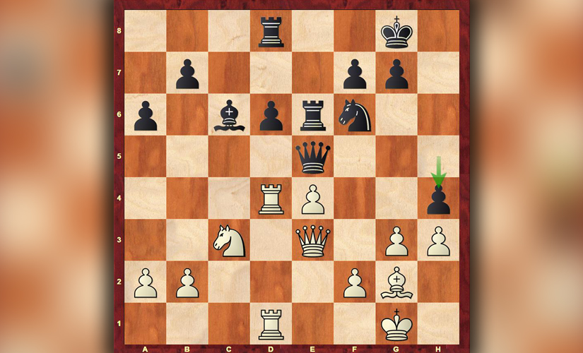 Anand vs Caruana, position after 27 moves, White to play