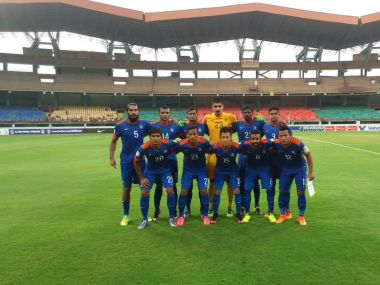 Indian Football Team. Image Courtesy: Twitter