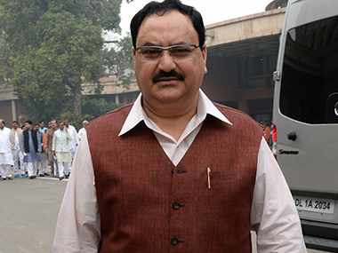 File photo of JP Nadda. AFP
