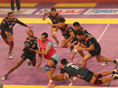 Action from the Pro Kabaddi League. ibnlive