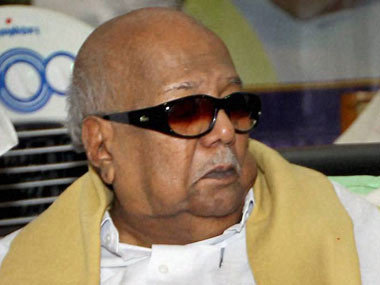 A file photo of Karunanidhi. PTI