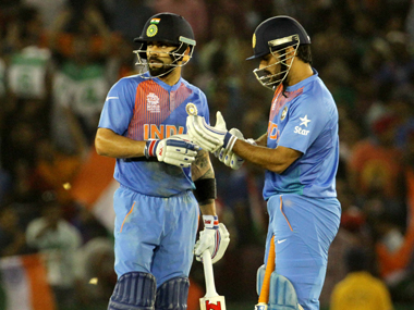 File photo of Virat Kohli and MS Dhoni. Solaris Images