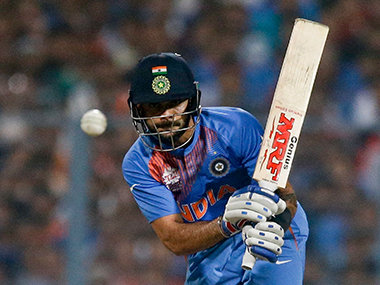 File photo of star Indian batsman and Test captain Virat Kohli. AP