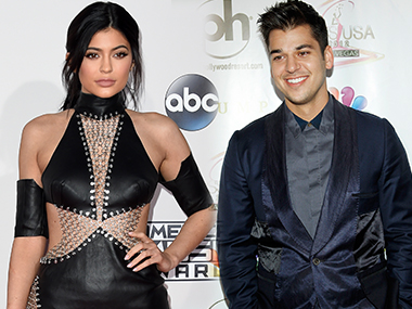 Kylie Jenner and Rob Kardashian. Image from AFP