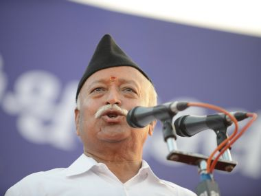 RSS Chief Mohan Bhagwat. AFP