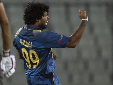 Lasith Malinga in the Asia Cup. AFP