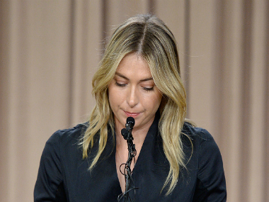 Russian tennis star Maria Sharapova admitted to failing doping test on Monday. GETTY IMAGES