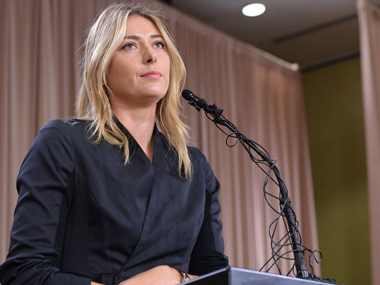 Maria Sharapova at the press conference. Reuters