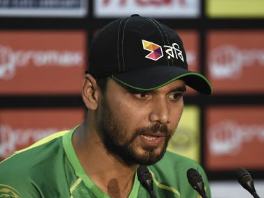 File photo of Mashrafe Mortaza. AFP