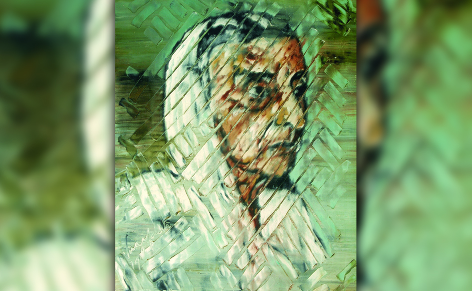 Meherbai Vazifdar, the artist's mother, 1979, oil on canvas