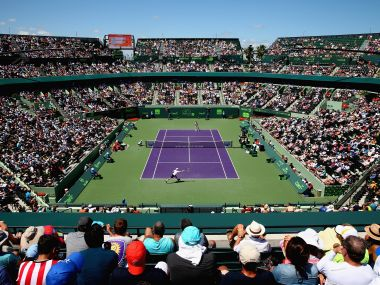 A view of stadium at the Miami Open. Getty Images