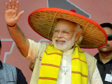 PM Narendra Modi started his 5-day tour to campaign for upcoming elections in Assam. PTI