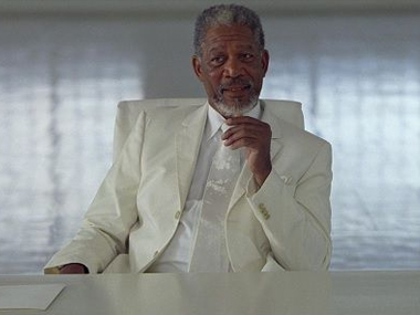 Morgan Freeman as God In 'Bruce Almighty'. Screen grab from YouTube