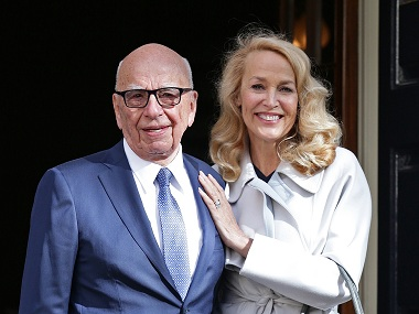 Fourth time plucky Rupert Murdoch marries Jerry Hall