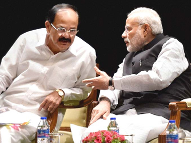 The Prime Minister should chastise Venkaiah Naidu for harming his credibility. PTI