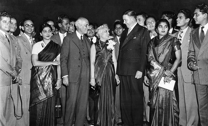 Nehru visited MIT in 1949. Image courtesy Prof Bassett