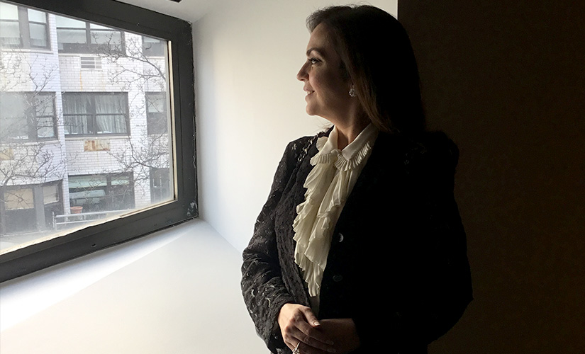Reliance Foundation chairperson Nita Ambani at the iconic Met Breuer window during the preview of Nasreen Mohamedi's works in NYC/ Pic by Dr Rajesh Parikh