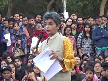 Zee News and IBN7 in soup for unlawful reportage branding JNU prof Nivedita Menon as antinational