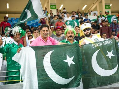 Representational photo of Pakistan fans. Getty Images