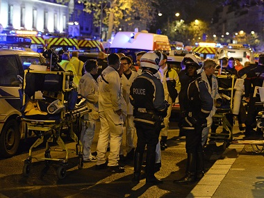 File photo of the Bataclan concert hall after the 13 November attacks. AFP