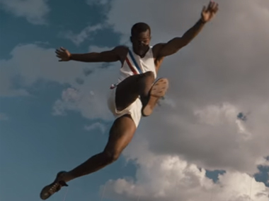 Race follows Jesse Owens' quest for Olympic glory. Screen grab from YouTube