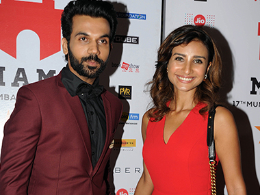 Patralekha (R) seen here with partner Rajkummar Rao. Image from AFP