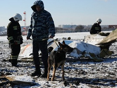 The flight crashed while attempting to land on Saturday. AP
