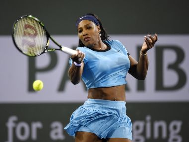 Serena Williams dethroned defending champion Simona Halep in straight sets. AFP