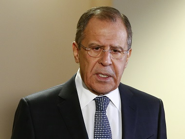 Russian Foreign Minister Sergei Lavrov. Reuters