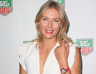 File photo of Maria Sharapova at a TAG Heuer Party in 2015. Getty Images