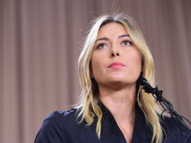 Maria Sharapova at the press conference in Los Angeles