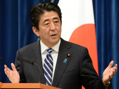 A file photo of Shinzo Abe. AFP
