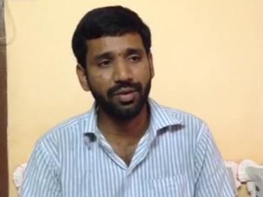 A screebgrab of ABVP leader Susheel Kumar